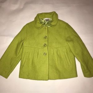 Janie and Jack City Museum Green jacket coat 2-3T